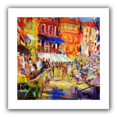 Brushstone Port Promenade  Saint-Tropez Canvas Wall Art