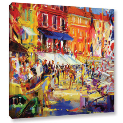 Brushstone Port Promenade  Saint-Tropez Gallery Wrapped Canvas Wall Art