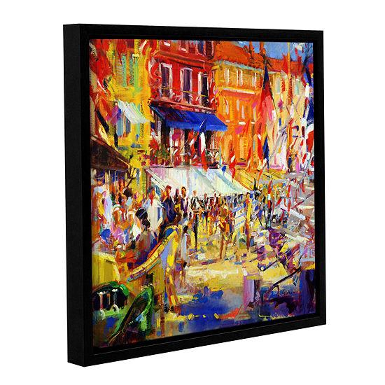 Brushstone Port Promenade Saint Tropez Gallery Wrapped Floater Framed Canvas Wall Art