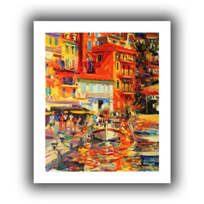 Brushstone Reflections Villefranche Canvas Wall Art