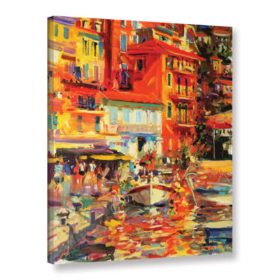 Brushstone Reflections Villefranche Gallery Wrapped Canvas Wall Art