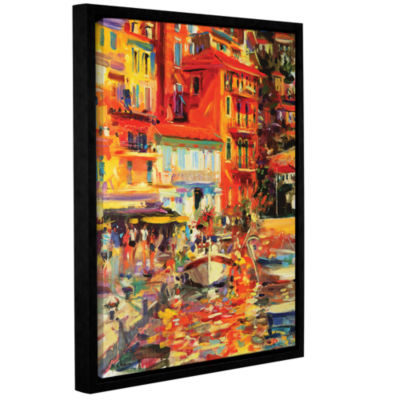 Brushstone Reflections Villefranche Gallery Wrapped Floater-Framed Canvas Wall Art