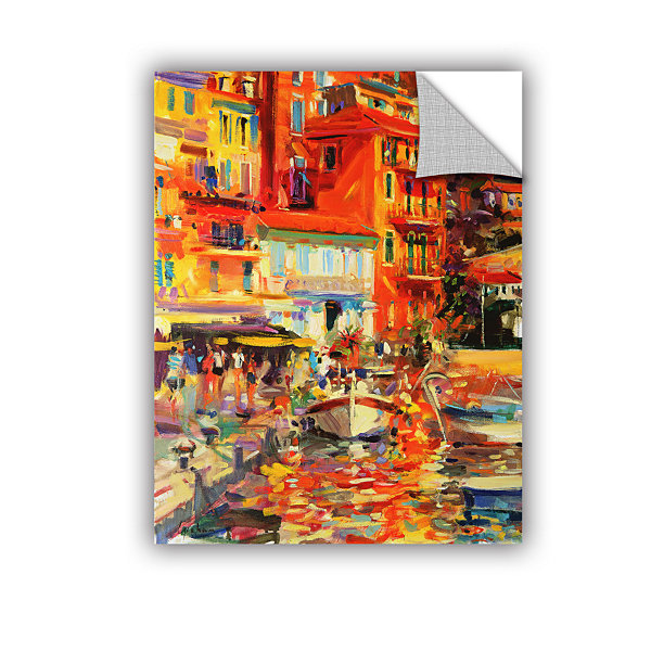 Brushstone Reflections Villefranche Removable WallDecal