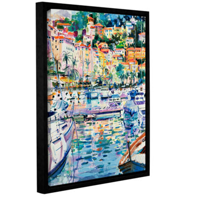 Brushstone Riviera Yachts Gallery Wrapped Floater-Framed Canvas Wall Art