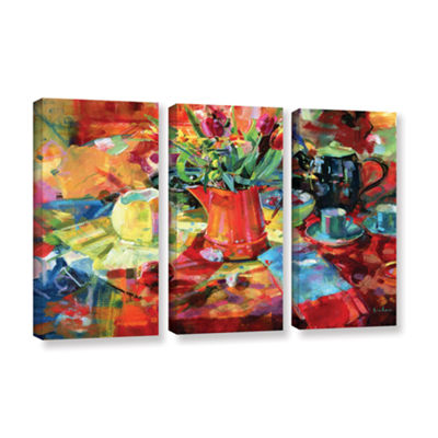 Brushstone Sienna Bouquet 3-pc. Gallery Wrapped Canvas Wall Art