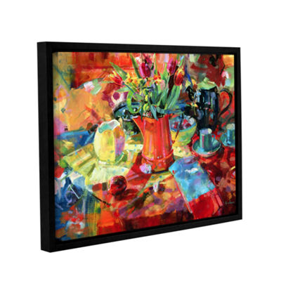 Brushstone Sienna Bouquet Gallery Wrapped Floater-Framed Canvas Wall Art