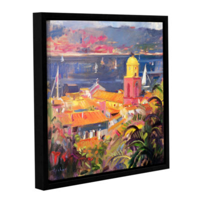 Brushstone St. Tropez Sailing Gallery Wrapped Floater-Framed Canvas Wall Art