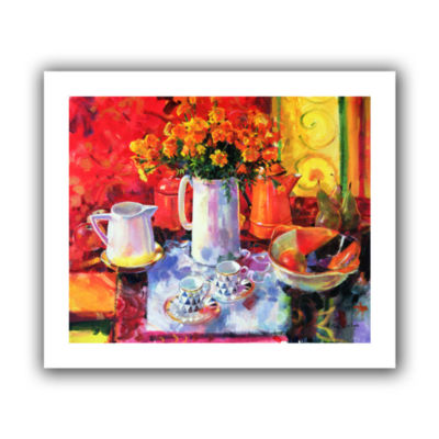 Brushstone Table Reflections Canvas Wall Art