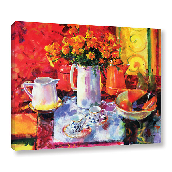 Brushstone Table Reflections Gallery Wrapped Canvas Wall Art