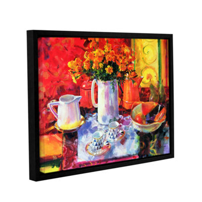 Brushstone Table Reflections Gallery Wrapped Floater-Framed Canvas Wall Art