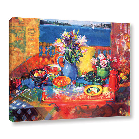 Brushstone The Balcony Table Gallery Wrapped Canvas Wall Art