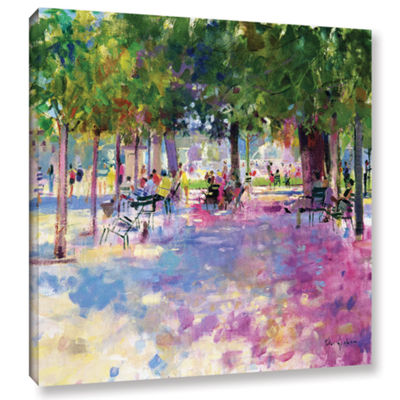 Brushstone Tuileries  Paris Gallery Wrapped CanvasWall Art