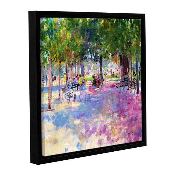 Brushstone Tuileries  Paris Gallery Wrapped Floater-Framed Canvas Wall Art
