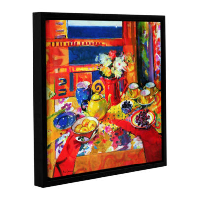 Brushstone Window to Cannes Gallery Wrapped Floater-Framed Canvas Wall Art