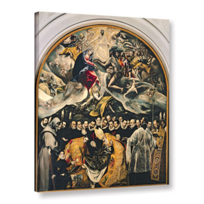 Brushstone The Burial of Count Orgaz  from a Legend of 1323 Gallery Wrapped Canvas Wall Art