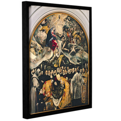 Brushstone The Burial of Count Orgaz  from a Legend of 1323 Gallery Wrapped Floater-Framed Canvas Wall Art
