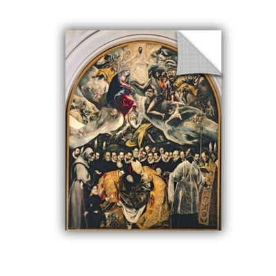 Brushstone The Burial of Count Orgaz  from a Legend of 1323 Removable Wall Decal