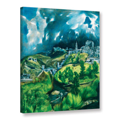 Brushstone View of Toledo Gallery Wrapped Canvas Wall Art