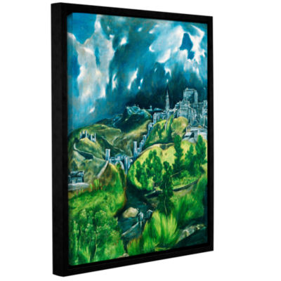 Brushstone View of Toledo Gallery Wrapped Floater-Framed Canvas Wall Art