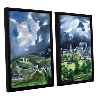 Brushstone View of Toledo II 2-pc. Floater FramedCanvas Wall Art