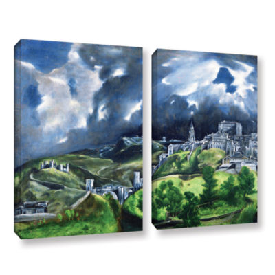 Brushstone View of Toledo II 2-pc. Gallery WrappedCanvas Wall Art