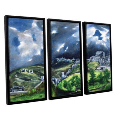 Brushstone View of Toledo II 3-pc. Floater FramedCanvas Wall Art