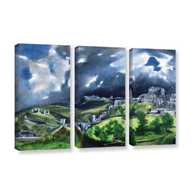 Brushstone View of Toledo II 3-pc. Gallery WrappedCanvas Wall Art