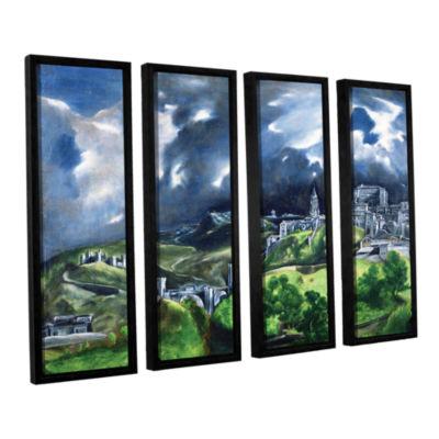 Brushstone View of Toledo II 4-pc. Floater FramedCanvas Wall Art