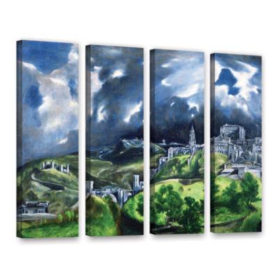 Brushstone View of Toledo II 4-pc. Gallery WrappedCanvas Wall Art