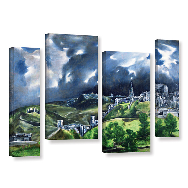 Brushstone View of Toledo II 4-pc. Gallery WrappedStaggered Canvas Wall Art