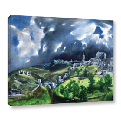 Brushstone View of Toledo II Gallery Wrapped Canvas Wall Art