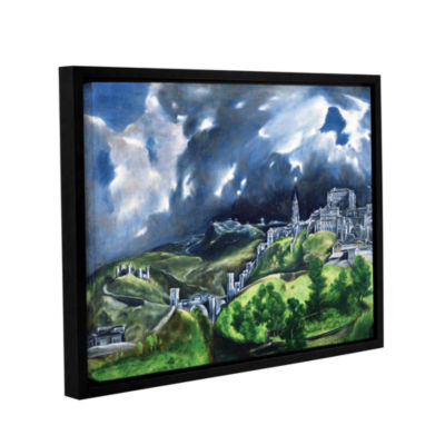 Brushstone View of Toledo II Gallery Wrapped Floater-Framed Canvas Wall Art