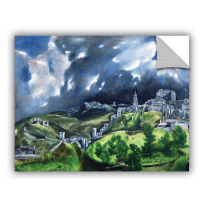Brushstone View of Toledo II Removable Wall Decal