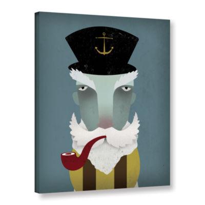 Brushstone Fisherman I Gallery Wrapped Canvas WallArt