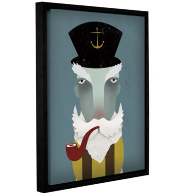 Brushstone Fisherman I Gallery Wrapped Floater-Framed Canvas Wall Art