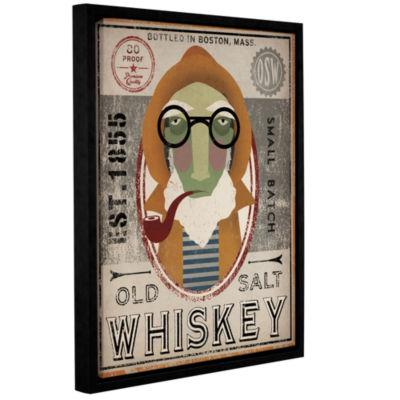 Brushstone Fisherman II Old Salt Whiskey Gallery Wrapped Floater-Framed Canvas Wall Art