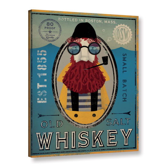 Brushstone Fisherman IV Old Salt Whiskey Gallery Wrapped Canvas Wall Art