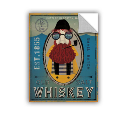 Brushstone Fisherman IV Old Salt Whiskey Removable Wall Decal