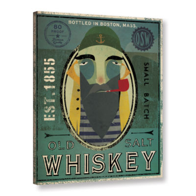 Brushstone Fisherman VII Old Salt Whiskey GalleryWrapped Canvas Wall Art