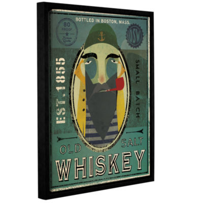 Brushstone Fisherman VII Old Salt Whiskey GalleryWrapped Floater-Framed Canvas Wall Art