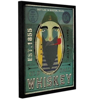 Brushstone Fisherman VII Old Salt Whiskey GalleryWrapped Floater-Framed Canvas Wall Art