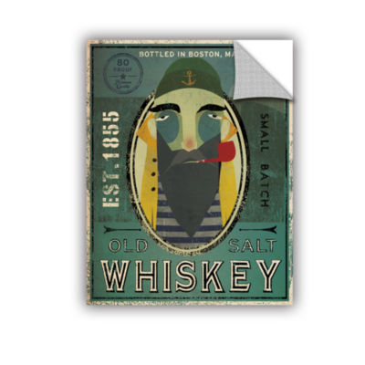 Brushstone Fisherman VII Old Salt Whiskey Removable Wall Decal