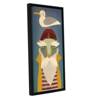 Brushstone Fisherman VIII Gallery Wrapped Floater-Framed Canvas Wall Art