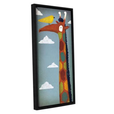 Brushstone Giraffe Gallery Wrapped Floater-FramedCanvas Wall Art
