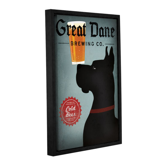 Brushstone Great Dane Brewing Co Gallery Wrapped Floater-Framed Canvas Wall Art