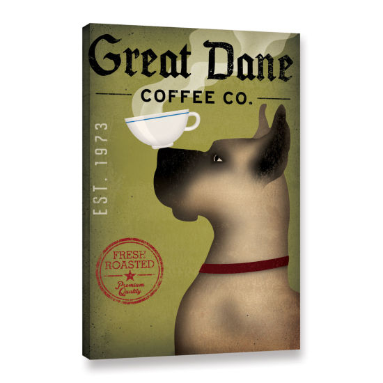 Brushstone Great Dane Coffee Gallery Wrapped Canvas Wall Art