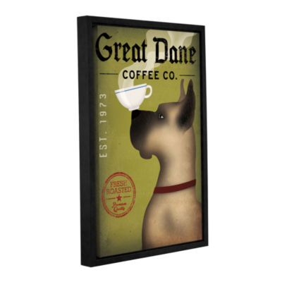 Brushstone Great Dane Coffee Gallery Wrapped Floater-Framed Canvas Wall Art