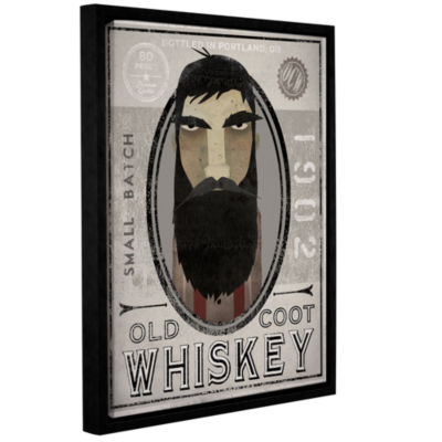 Brushstone Lumberjack Whiskey Gallery Wrapped Floater-Framed Canvas Wall Art