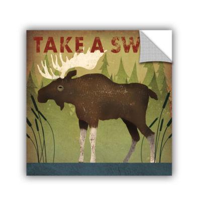 Brushstone Take A Swim Moose Removable Wall Decal