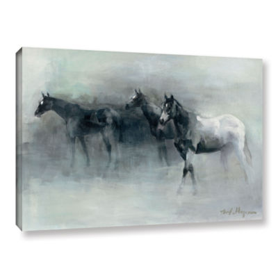 Brushstone In The Mist Gallery Wrapped Canvas WallArt